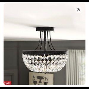 Mckeever Crystal Basket 3-Light
